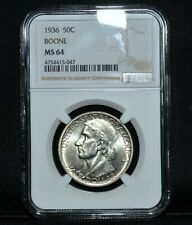 1936-P BOONE COMMEMORATIVE 50C ✪ NGC MS-64 ✪ CHOICE UNCIRCULATED 047 ◢TRUSTED◣