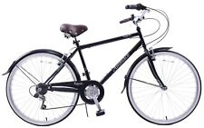 "Ammaco Royale 26"" Wheel Mens Traditional Dutch Style Bike 6 Speed 22"" Frame Blac"