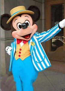 Costume De Mascotte Bleu Marine De Disney Mickey Mouse Déguisement Adulte