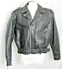 FMC Superstar Motorcycle Biker Jacket Black Heavy Leather Full Zip Mens 54