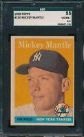 1958 Topps Set Break # 150 Mickey Mantle SGC 4.5 Not PSA *OBGcards*