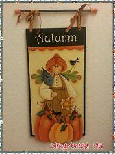 Hand Painted  Thanksgivings Wooden Banner, Wall Hanging, Autumn, Pumpkin,  Sign