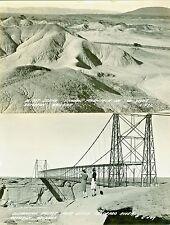 Cameron AZ Shadow Mountain and the Colorado River Suspension Bridge RPPCs