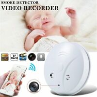 Mini Wireless Wifi HD 1080P Hidden Spy Camera Smoke Detector Cam Security Camera