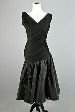VTG Women's 50s 60s Black Party / Cocktail Dress Sz S 1950s 1960s LBD