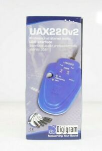 NEW Digigram UAX220v2 Professional USB Audio Interface w/ Carrying Case