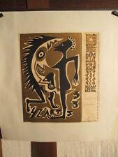 AFFICHE  QUATZ'ARTS  GRAPHISME DECO  ETUDIANTS BEAUX-ARTS 1953