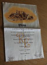 Ancien menu sur soie hostellerie de la Poularde Montrond-les-Bains