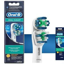 3 x Oral-B Dual Clean  Braun Toothbrush Heads  EB417-3