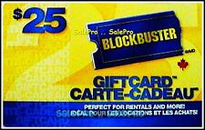 BLOCKBUSTER MOVIE CD DVD IPOD MUSIC PERFECT FOR RENTALS COLLECTIBLE GIFT CARD
