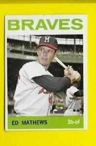 1964 Topps Eddie Mathews Miwaukee Braves #35  🚀⚾️ EXMT