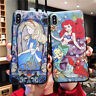 For Apple iPhone 11 Pro Max X XR Alice Princess Mermaid Emboss Hard Case Cover