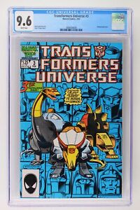 Transformers Universe #3 - Marvel 1987 CGC 9.6 Wraparound cover.