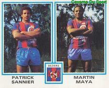 484 PATRICK SANNIER - MARTIN MAYA AS.BEZIERS STICKER FOOTBALL 1980 PANINI