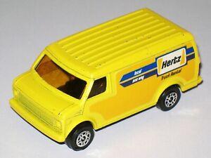 Hertz US Van 1979 - CORGI JUNIORS 34 1:67 scale Diecast Model Car LOOSE