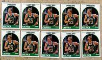 Larry Bird 1989-90 NBA Hoops #150 Boston Celtics 10ct Card Lot