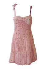 *MARC JACOBS* WOMEN'S CANDY PINK VINTAGE STYLE POLKA DOT DRESS (UK 8)