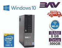 CHEAP FAST Dell SFF Computer PC INTEL i5 4th Gen 500GB HDD 8GB RAM WIN10 WIFI