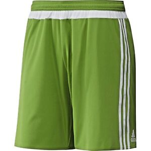 $28 Men`s Adidas Soccer MSL Match ClimaCool 3 Stripe Green White Shorts SMALL