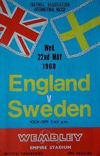 Programm LS 22.5.1968 England - Sweden Schweden