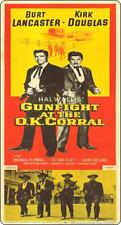 """11"""" X 5"""" Pistolet à OK Corral-Metal Sign-Cowboy Lancaster Douglas 292"""