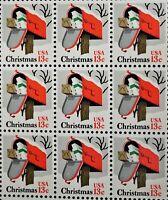 13c Christmas Mailbox Vintage Holiday Full Pane US Stamps MNH  RG1119