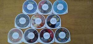 Sony PSP Game Bundle Lot #2: 10 Disks, All Tested