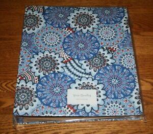 Vera Bradley Notebook 3 Ring Binder Fireworks Medallion blue school floral NEW