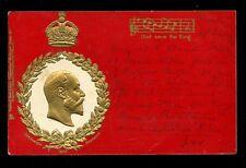 Royalty KEVII Coronation Souvenir Tuck Empire Coronation Series #611 u/b PPC
