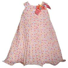 BONNIE JEAN BABY® Girls 24M Peach Dot Pleated Chiffon Dress NWT