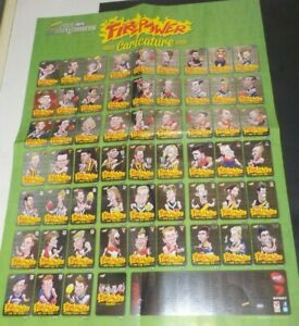 2015 Select AFL Champions Firepower Caricature cards metallic foil Poster. new
