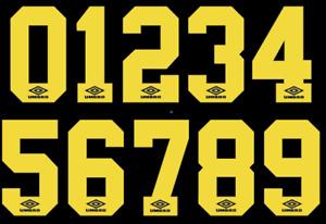 Umbro Felt Football Shirt Soccer Numbers Heat Print Football Vintage 1990's B