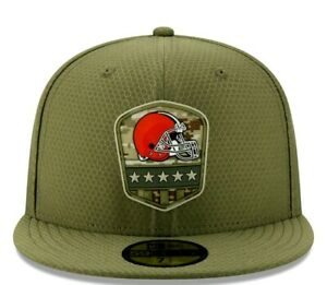 New Era 59Fifty Salute to Service Cleveland Browns Fitted Hat Size 7 1/4 NFL