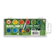 Brilliant Water Colours Koh-I-Noor 22 5mm Anilinky Paint Set Watercolor 12 24