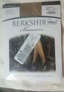 Berkshire Shimmers Ultra Sheers Control Top Pantyhose Candlelight Size 1