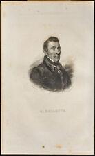 Portrait (1838) - Alexis Hallette - Locomotive, Machine steam - Engraving