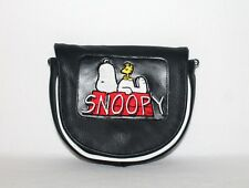 Snoopy special edition black leather embroidery  mini bag