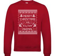 Merry Christmas Ya Filthy Animal Mens Funny Sweatshirt Home Alone Ugly Jumper