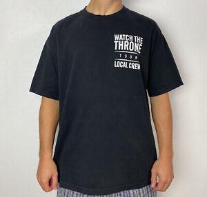 Watch The Throne Tour Local Crew T-shirt Mens XL Kanye Jay-Z Yeezus Vtg Y2k Rap