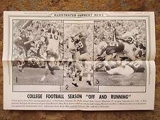 1959 ICN Display Poster 12x19 University Nebraska Michigan Northwestern Oklahoma