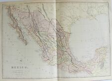 OLD ANTIQUE MAP MEXICO LOWER CALIFORNIA AMERICA c1880s by BLACKIE PRINTED COLOUR