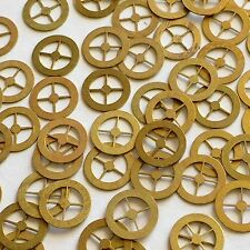 25 Gold WATCH PARTS Altered Art steampunk Gears Wheels old vtg movements lot