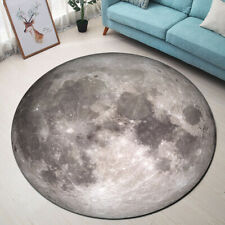Outer Space Moon Round Memory Foam Area Rug Bedroom Floor Carpet Home Yoga Mat