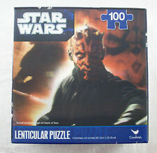 Star Wars Darth Maul Lenticular 3D Jigsaw Puzzle Cardinal 2011 MISB