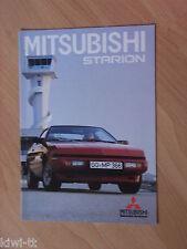 Mitsubishi Starion Programm Prospekt / Brochure / Depliant, D, 4.1986