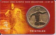 2000 $5 RAM UNC Coin Sydney Olympic coin collection- 8 of 28 (Triathlon) + cover