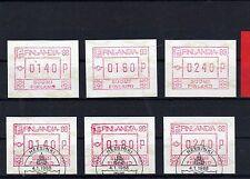 Finnland     ATM 4  ** / o   - KW  16,50  €  ( 12955 )