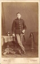 G. Heitel CDV photo KuK Soldat - Wien 1870er