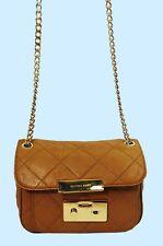 MICHAEL KORS SLOAN FLAP Quilted Tan Leather Shoulder Bag Msrp $298 *FREE S/H*