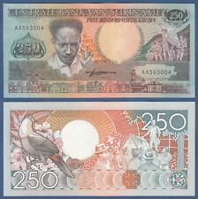 SURINAM / SURINAME 250 Gulden 1988 UNC P.134
